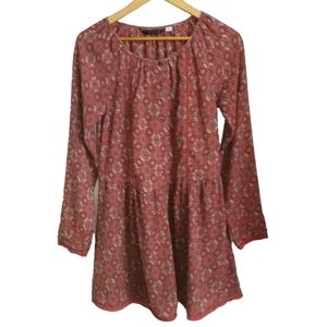 ONLY Bohemian Orange & Beige Floral Tunic, size 4